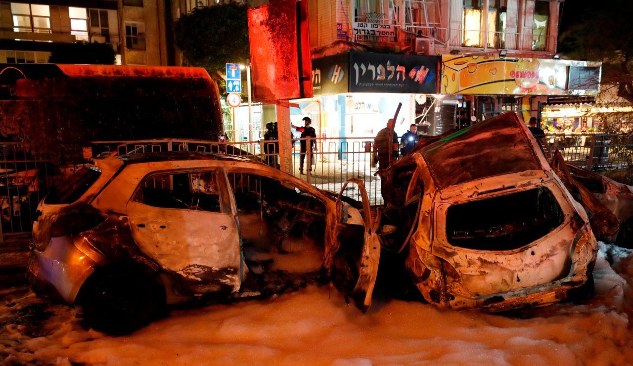 Imagen del bombardeo de Hamás en Tel Aviv