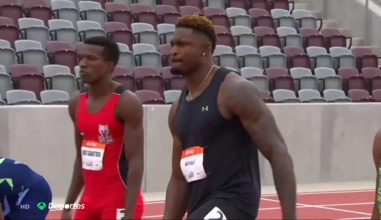DK Metcalf, jugador NFL  de 104 kilos, a punto de lograr la clasificación para los 100 metros lisos en Tokio 2020