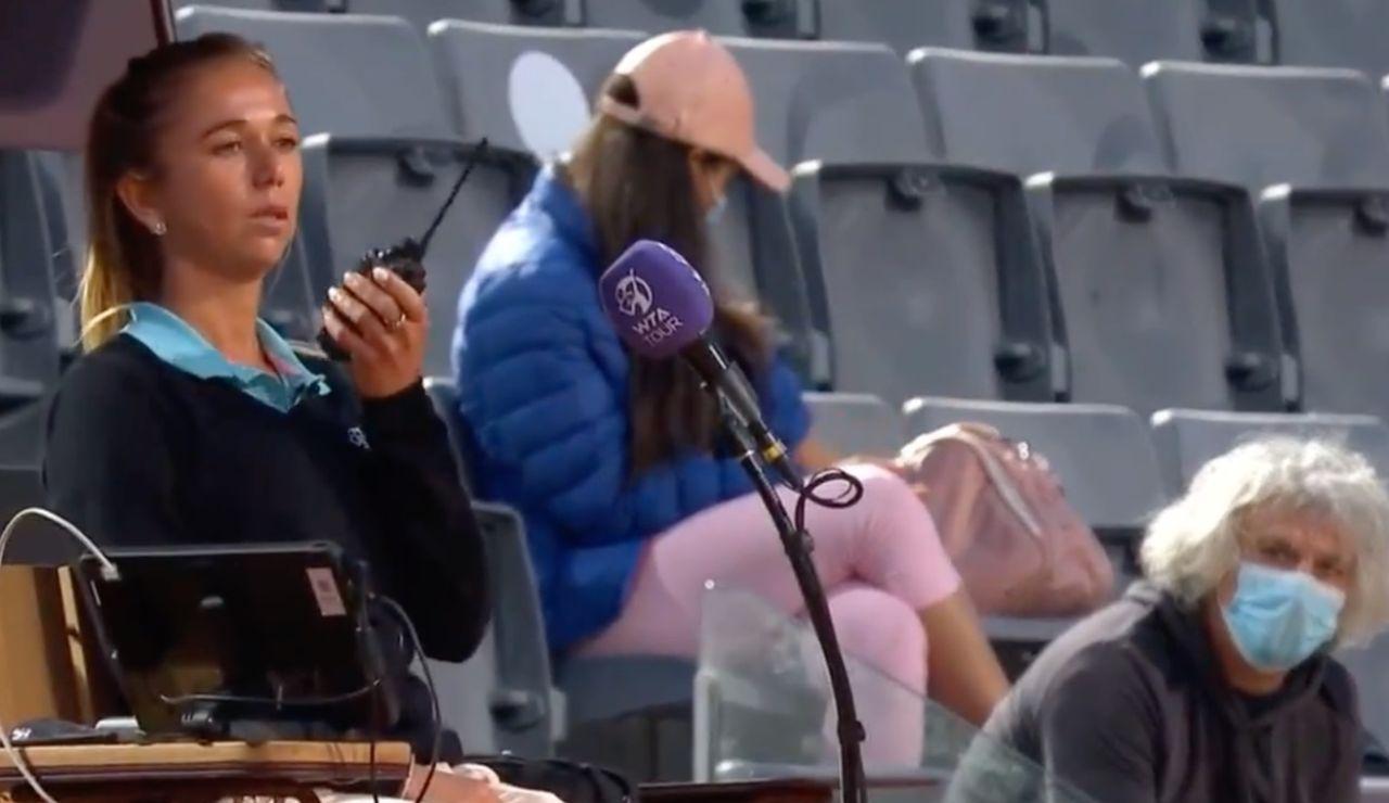 """Una jueza del Masters de Roma pide ayuda a seguridad por miedo al padre de la tenista Camila Giorgi : """"¿Es posible que venga alguien?"""""""
