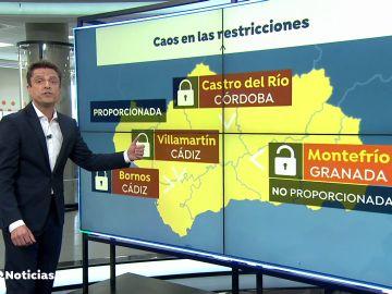 La Justicia andaluza permite el cierre perimetral Castro del Río, Bornos y Villamartín pero lo deniega en Montefrío