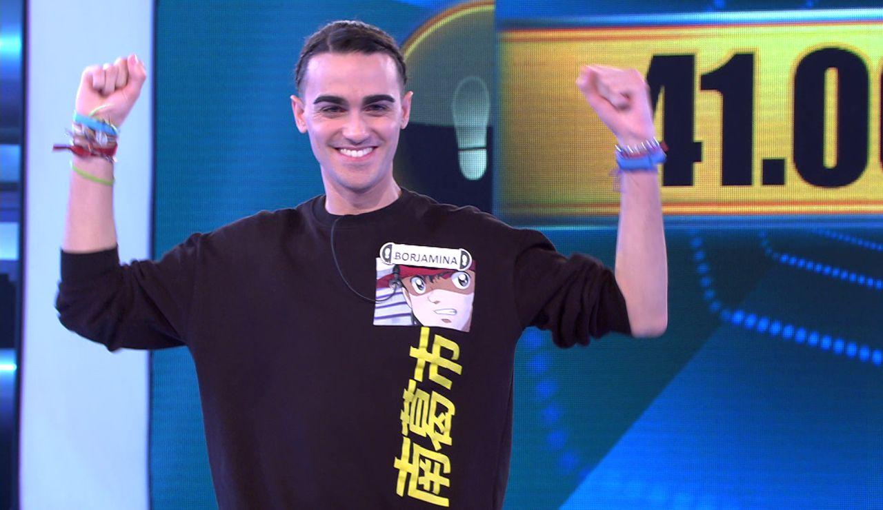 ¡Borja se lleva 41.002 euros! Rompe al fin su maldición con el Duelo Final en '¡Ahora caigo!'