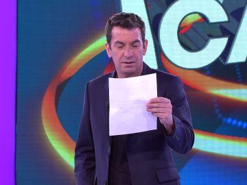 La decepción de Arturo Valls con la carta romántica de una fan de '¡Ahora caigo!'