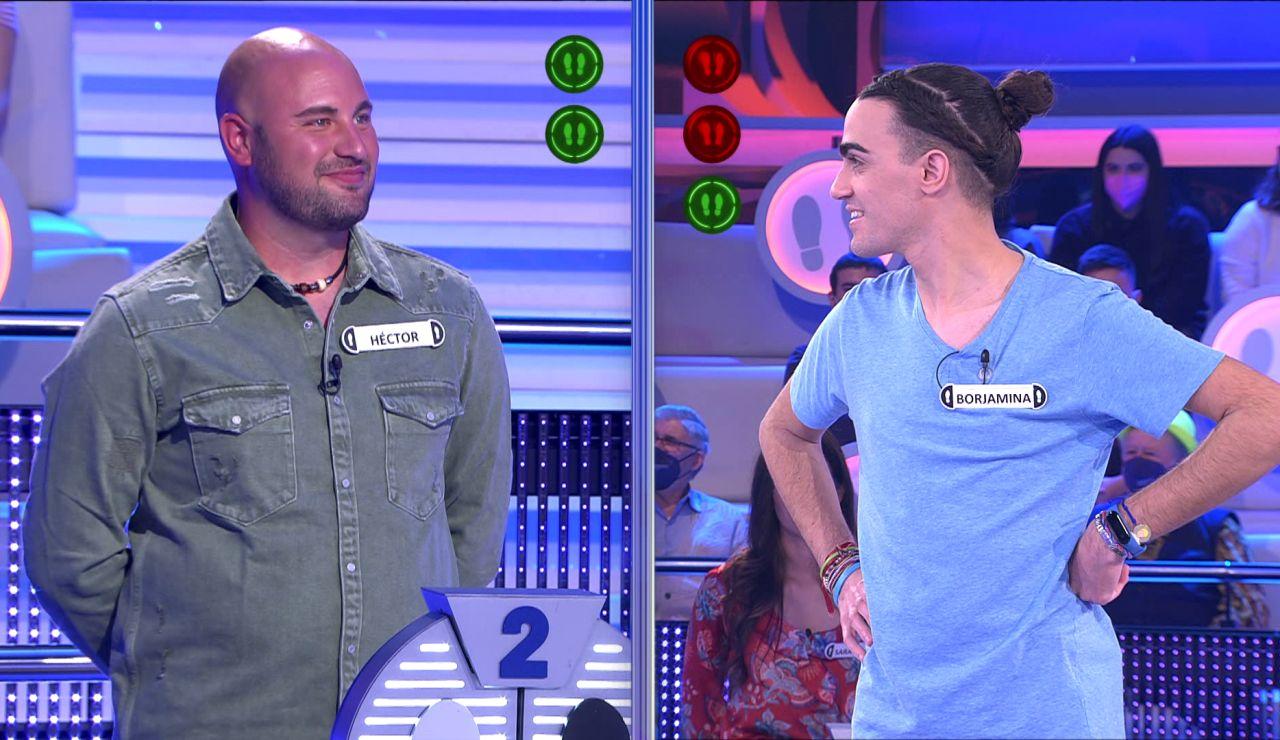 Borja, ante su rival más duro en 26 programas en '¡Ahora caigo!': ¡le quita dos comodines!