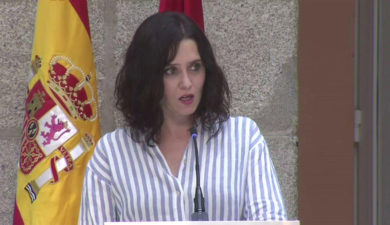 """Isabel Díaz Ayuso acusa al Gobierno de """"criminalizar a la sociedad madrileña"""""""