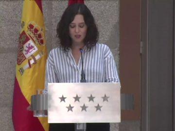 Así ha sido la comparecencia de Isabel Díaz Ayuso este miércoles 12 de mayo