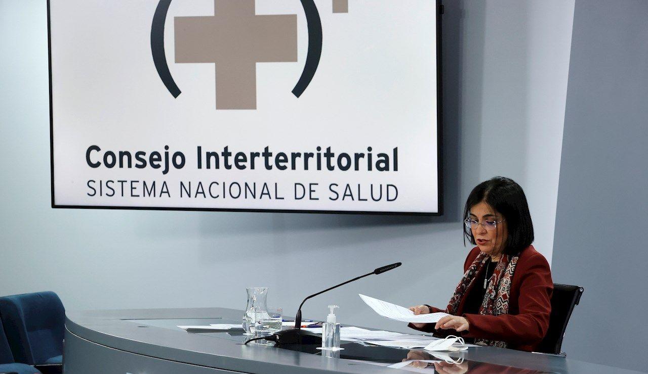 La ministra de Sanidad, Carolina Darías