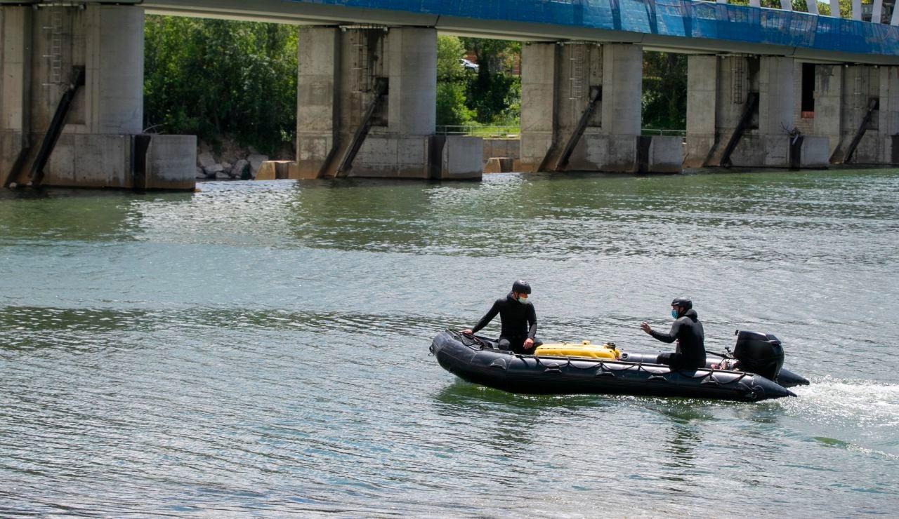 Búsqueda del menor en el Ebro