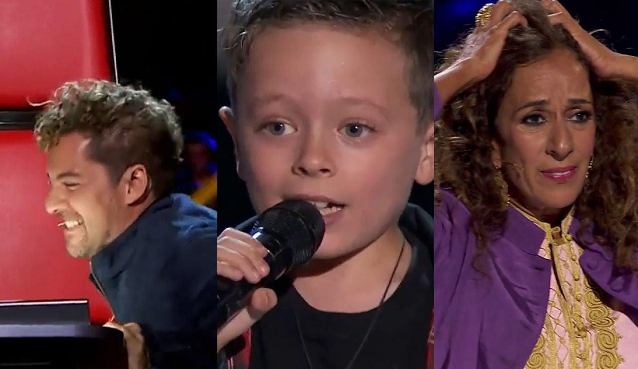 El TOP5 de las Audiciones a ciegas de 'La Voz Kids': el rock de Jesús y Bisbal se convierte en community manager