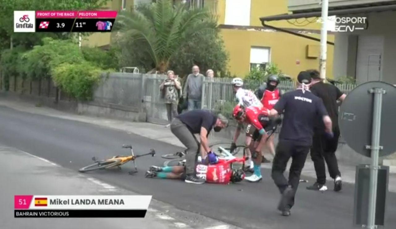 Mikel Landa abandona el Giro de Italia tras una dura caída