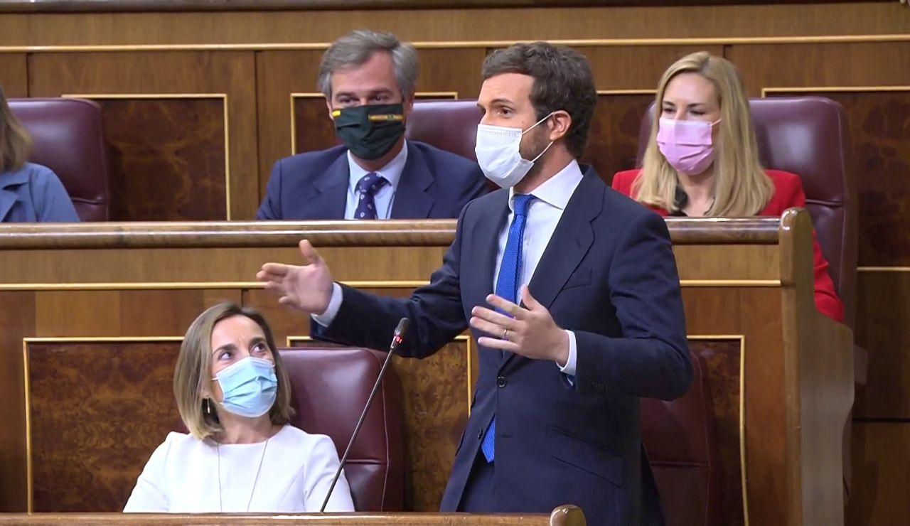"""A3 Noticias 1 (12-05-21) Rifirrafe entre Pedro Sánchez y Pablo Casado: """"se le está poniendo cara de Albert Rivera"""" """"y a usted de Zapatero"""""""