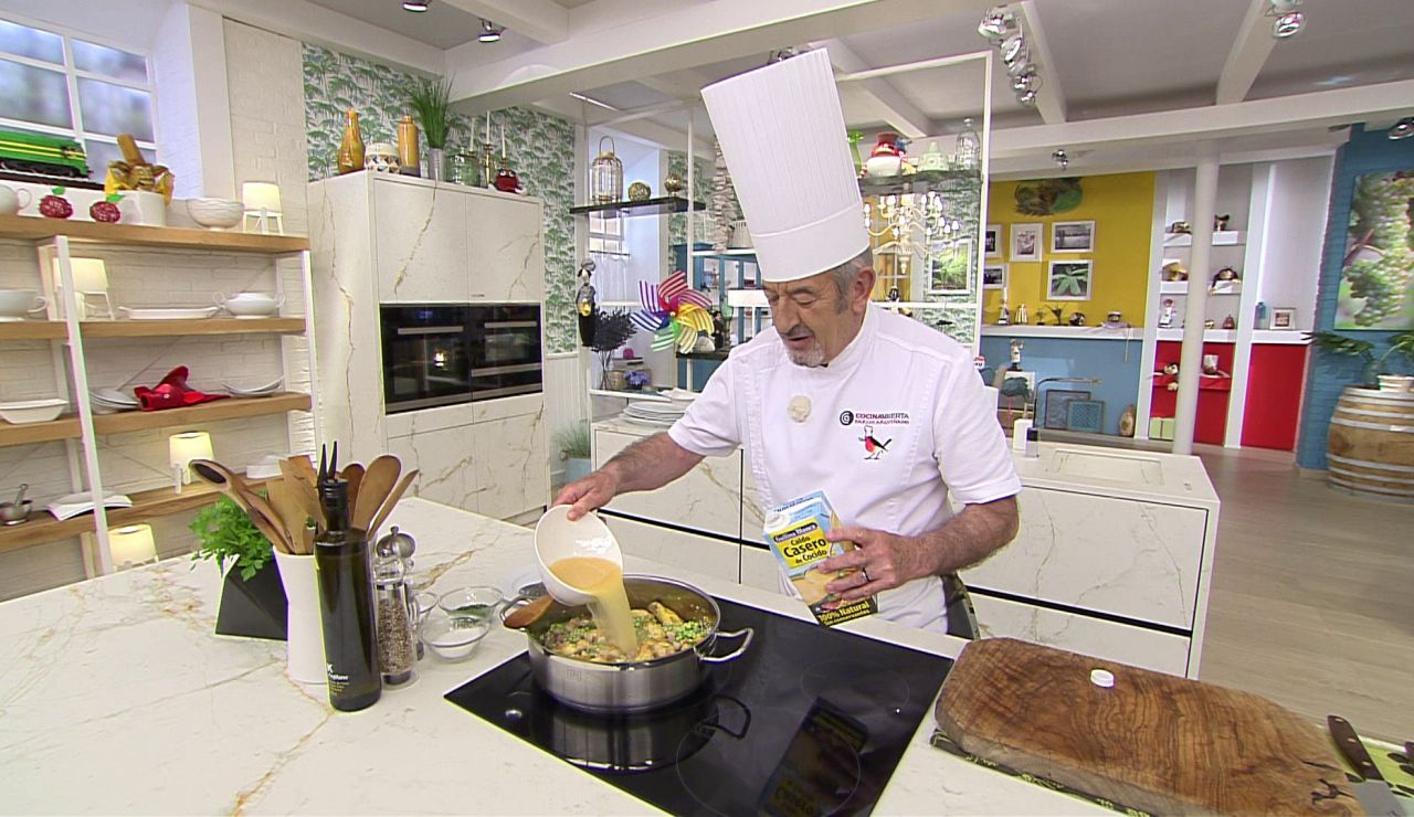Arroz al horno: ¿Lleva la medida habitual de caldo?