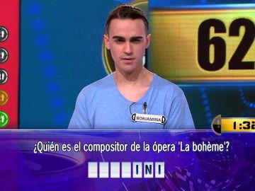 Borja, a repetir hazaña por segundo Duelo Final consecutivo: 62.001 euros en juego en '¡Ahora caigo!'