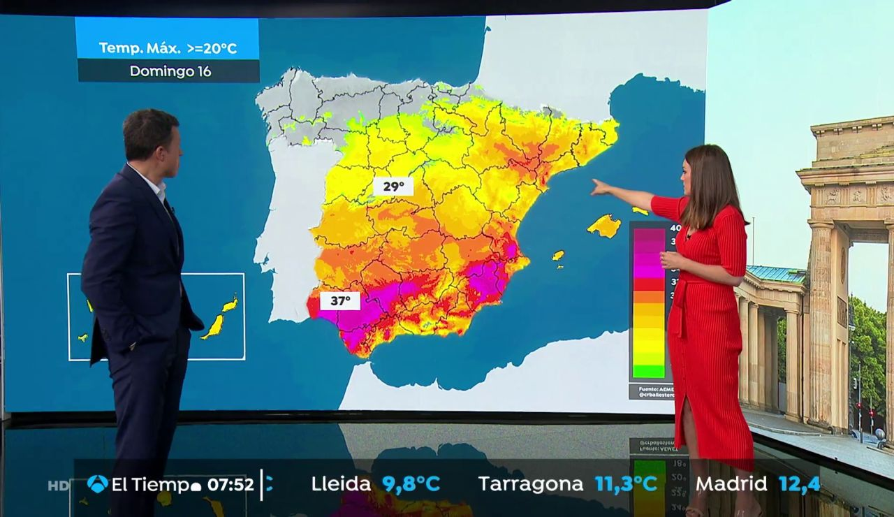La previsión del tiempo hoy:  Un frente dejará lluvias en Galicia, norte de Castilla y León, La Rioja y Navarra