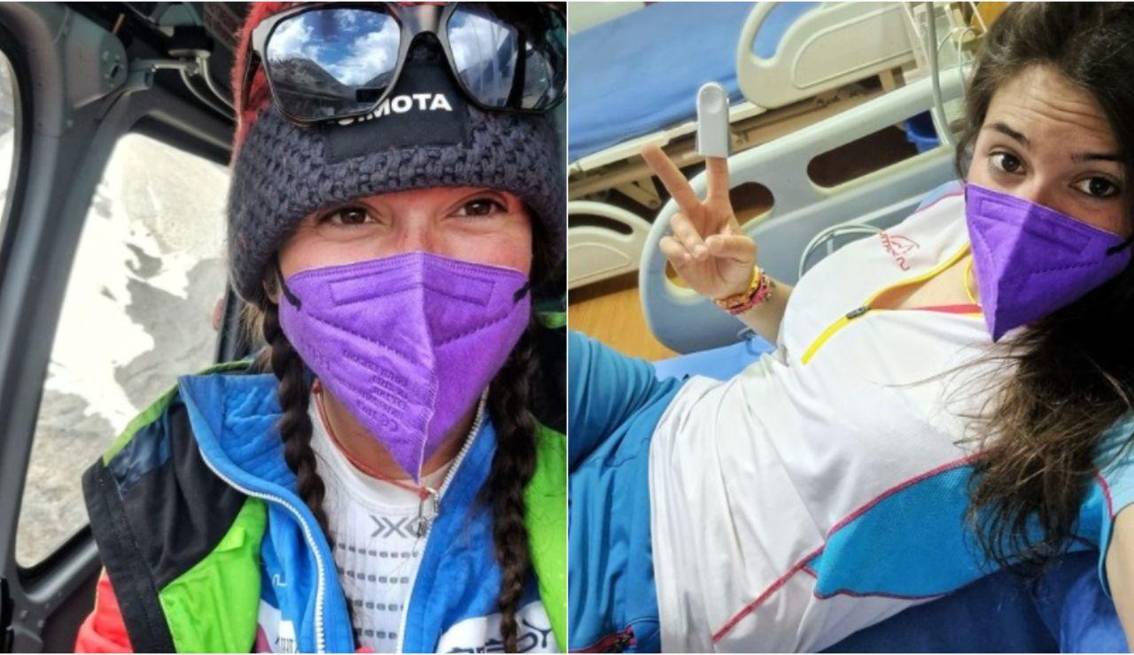 Stefi Troguet, la joven alpinista andorrana evacuada del campo base del Dhaulagiri