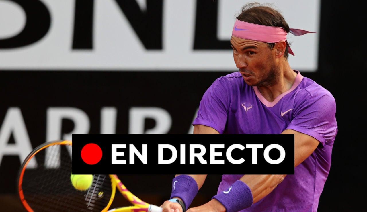Nadal - Sinner: Partido de tenis del Masters 1000 de Roma hoy, en directo