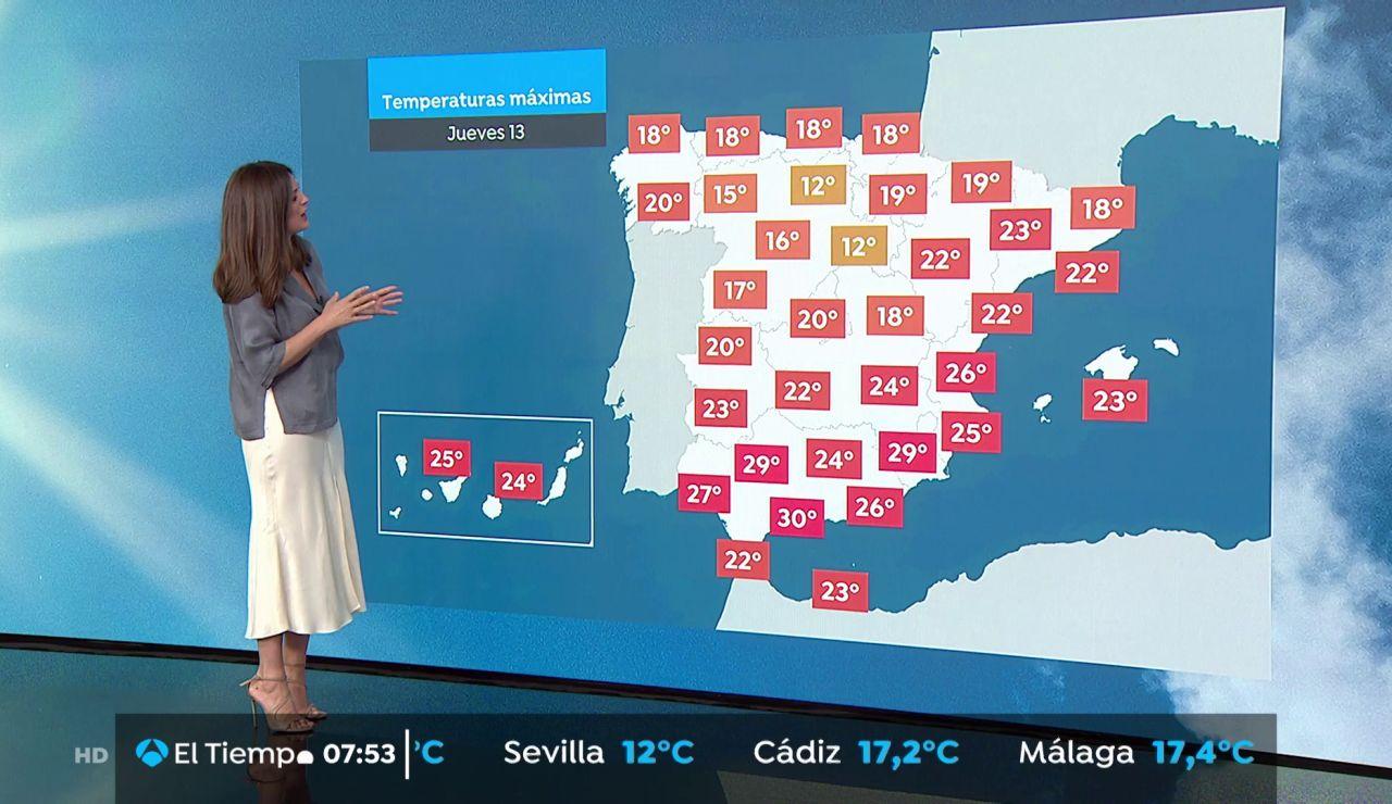 La previsión del tiempo: Viento fuerte en Galicia con lluvias fuertes en el extremo oeste