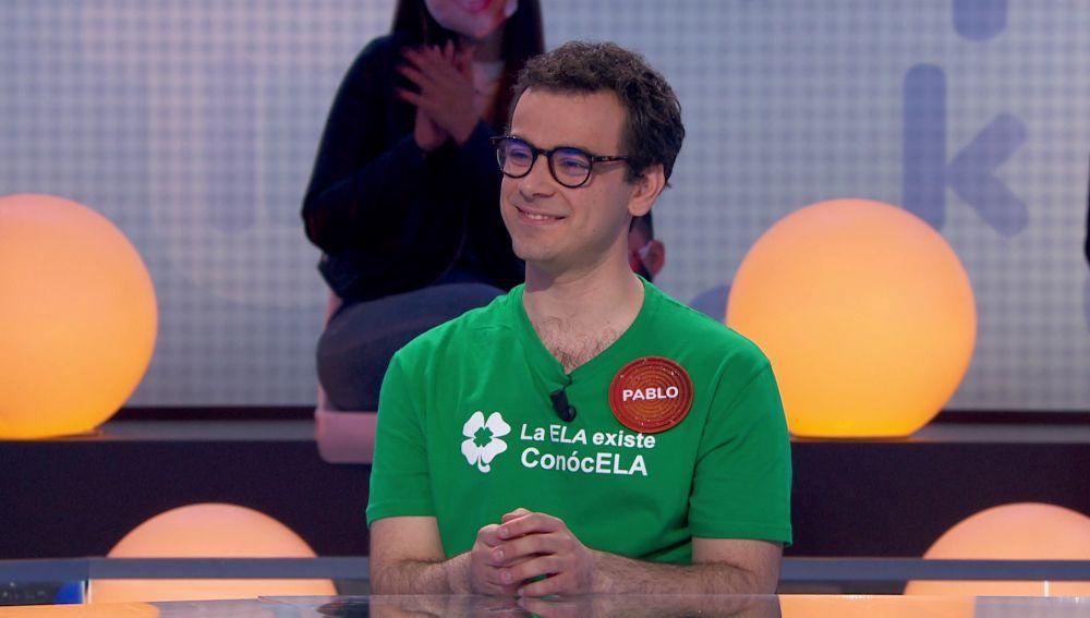 """La camiseta de Pablo para dar visibilidad a la ELA: """"Un granito de arena"""""""