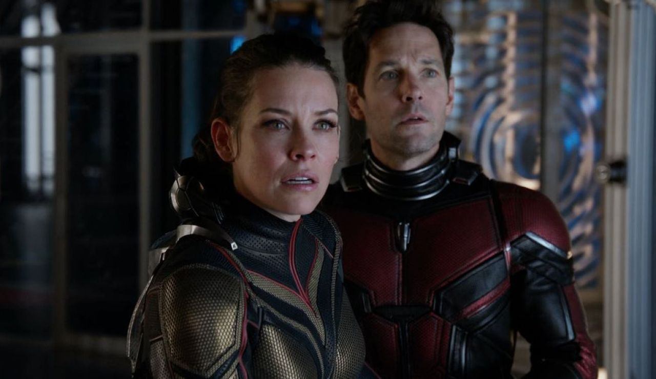 Evangeline Lilly y Paul Rudd en 'Ant-Man y la Avispa'
