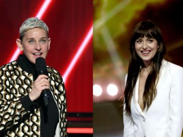 Ellen DeGeneres y Dakota Johnson