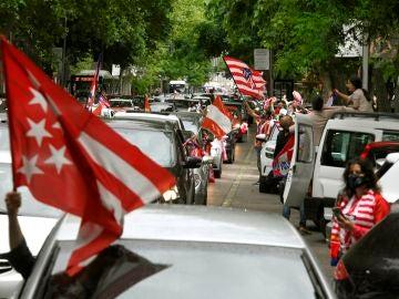 Celebración del título de Liga del Atlético en las calles de Madrid y en el Wanda, en streaming