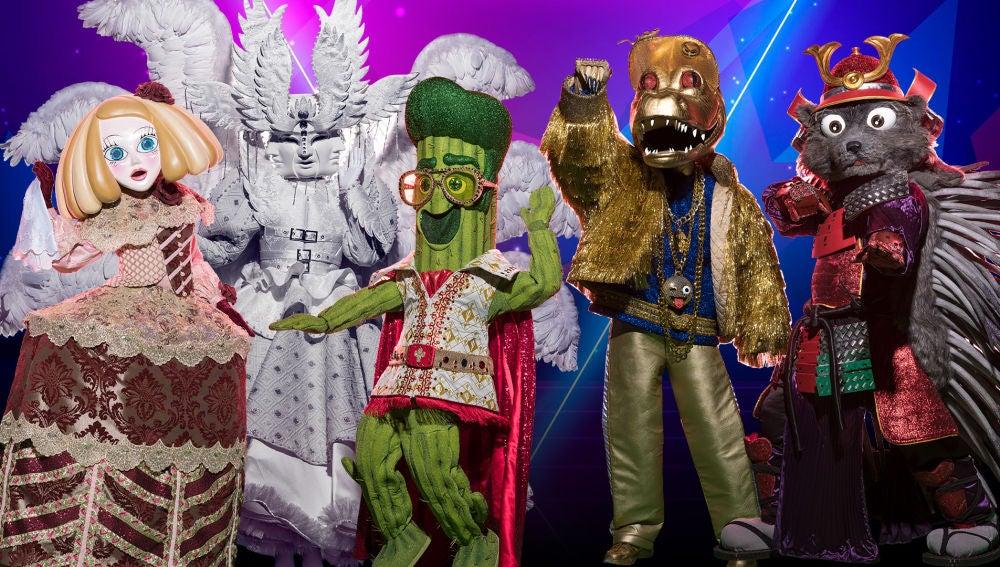 Las 5 máscaras de la Gala 1 de 'Mask Singer 2', ¿a cuál desvelaremos?