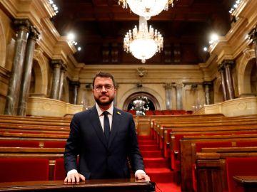 El presidente de la Generalitat de Cataluña, Pere Aragonès
