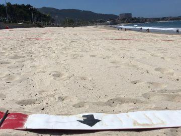 Parcelas en la playa de Samil, en Vigo