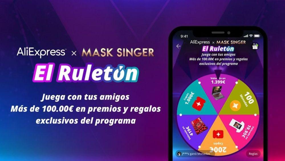 AliExpress sortea premios exclusivos en su Ruletón de 'Mask Singer'