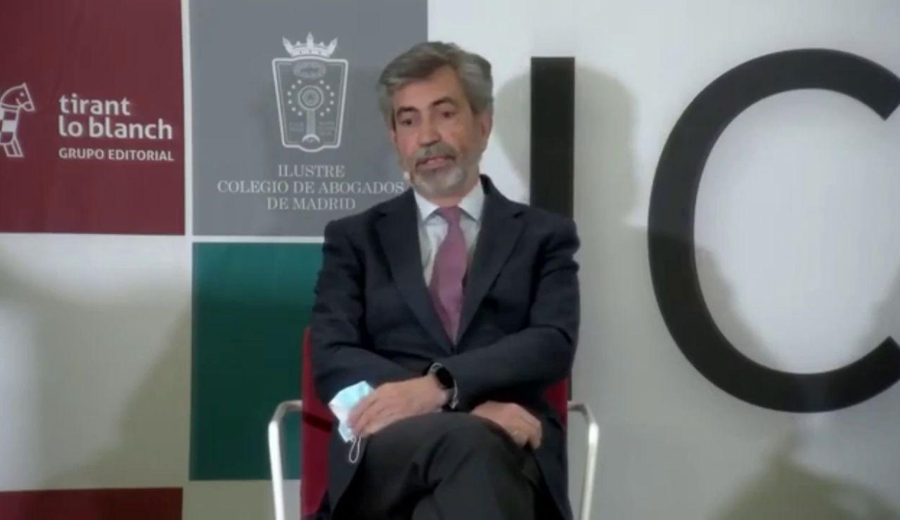 """Carlos Lesmes responde a Pedro Sánchez: """"Un indulto cuando no hay concordia es difícil de aceptar"""""""