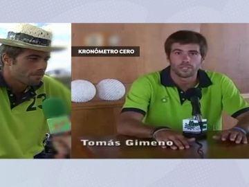 La voz de Tomás Gimeno.