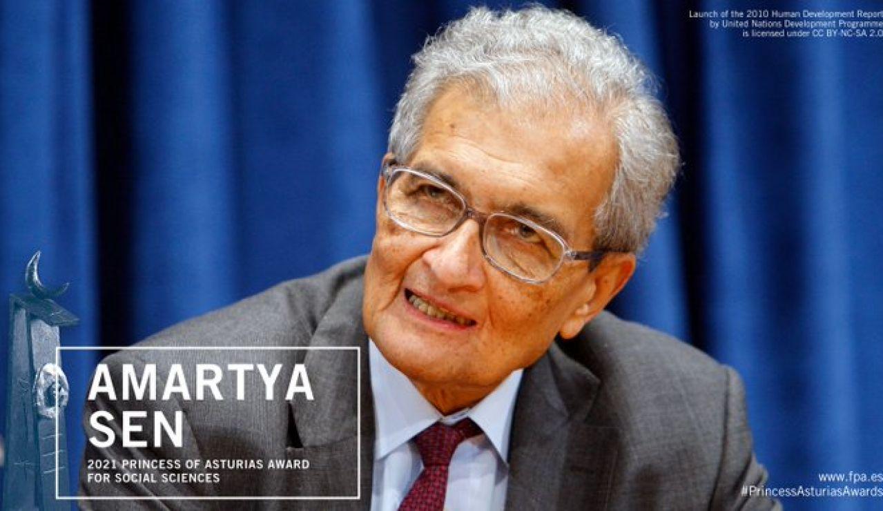 El filósofo y economista indio Amartya Sen, premio Princesa de Asturias de Ciencias Sociales 2021