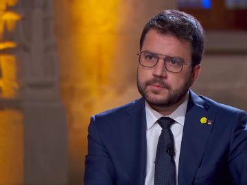Pere Aragonès, presidente catalán, durante una entrevista