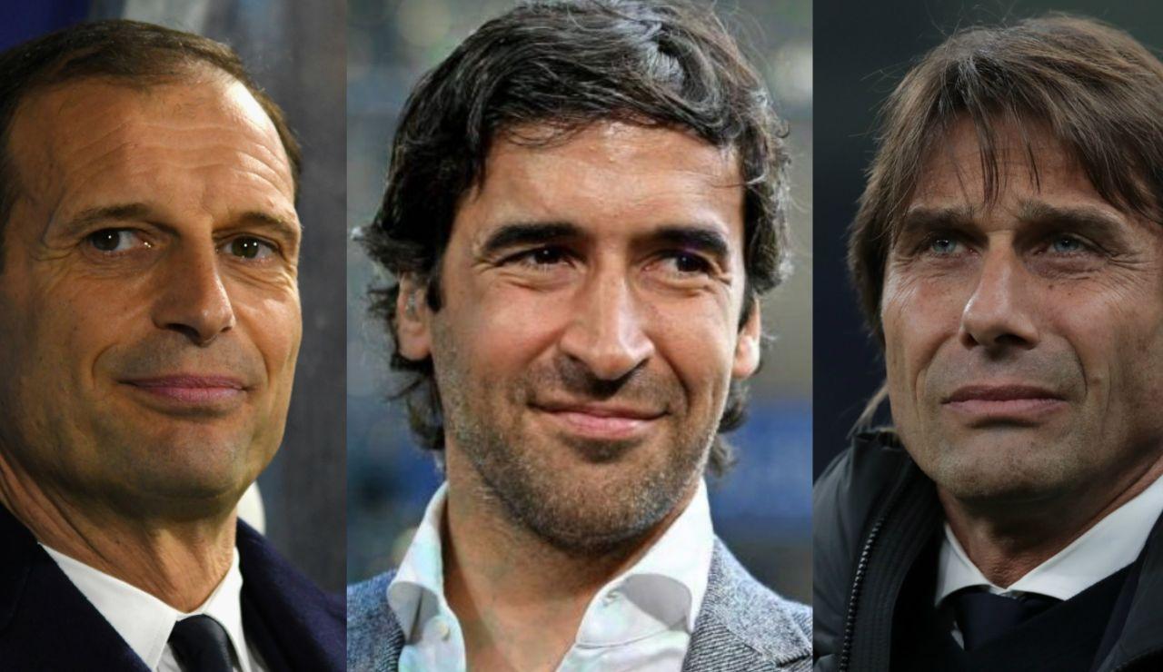 Encuesta: ¿Quién te gustaría que fuera el próximo entrenador del Real Madrid: Allegri, Conte o Raúl?