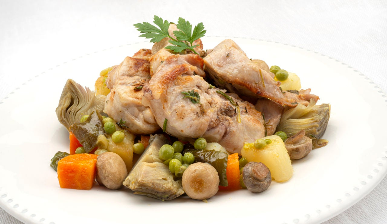 La receta de la felicidad, de Karlos Arguiñano: medallones de conejo con menestra de verduras