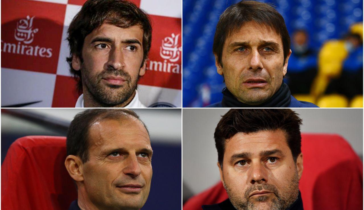 Encuesta: ¿Quién te gustaría que fuera el próximo entrenador del Real Madrid: Pochettino, Allegri, Conte o Raúl?