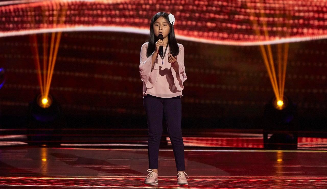 Samantha Fonseca canta 'Amor eterno' en las Audiciones a ciegas de 'La Voz Kids'
