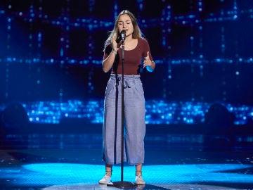 Noa Hernández canta 'Con la miel en los labios' en las Audiciones a ciegas de 'La Voz Kids'
