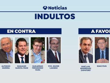 División en el PSOE por los indultos