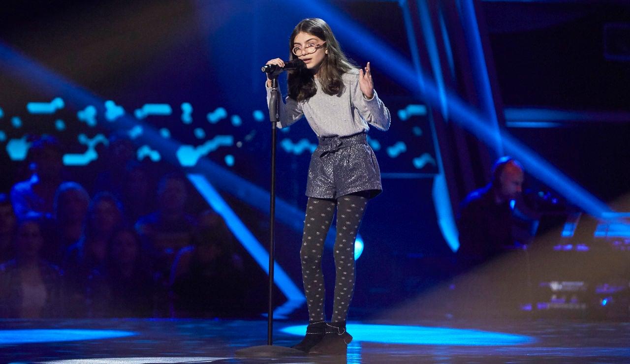 Marina Luque canta 'Lovely' en las Audiciones a ciegas de 'La Voz Kids'