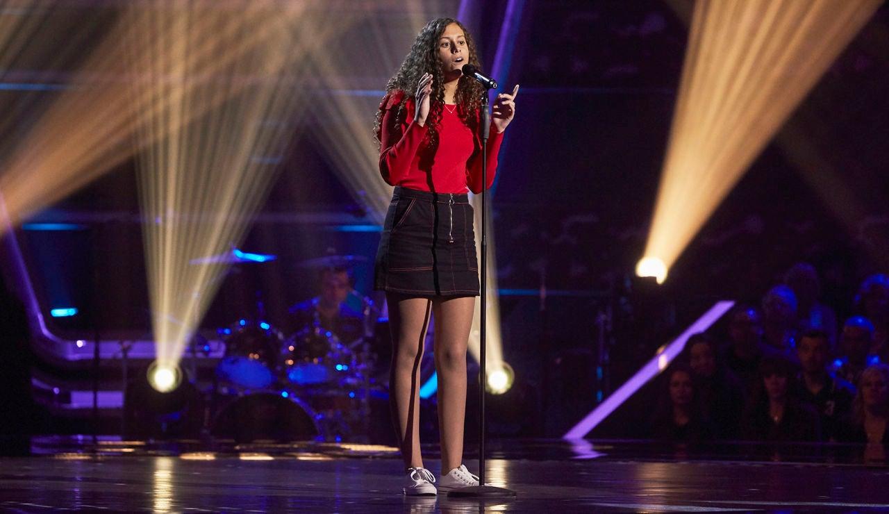 Carla Quesada canta 'Love on the brain' en las Audiciones a ciegas de 'La Voz Kids'