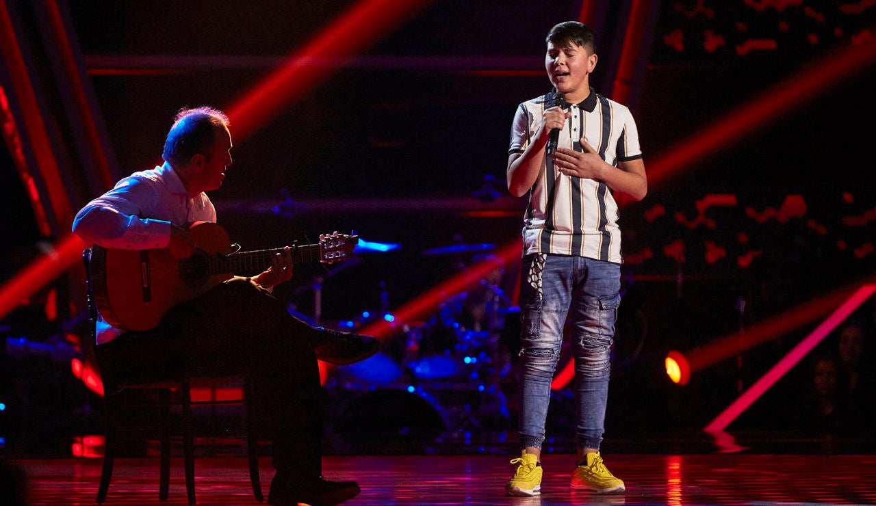 El Popo canta 'Dicen que príncipe y reyes tiene' en las Audiciones a ciegas de 'La Voz Kids'