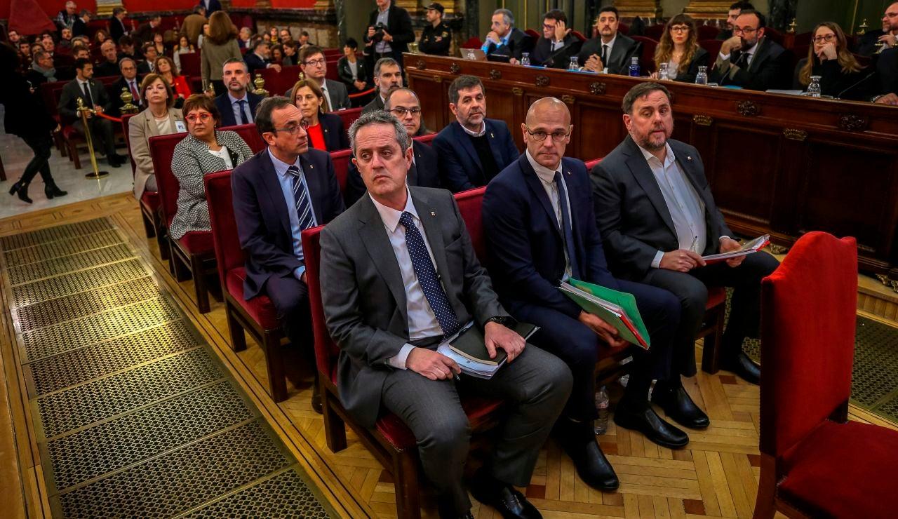 Los 12 líderes independentistas acusados por el 'procés' en el banquillo del Supremo