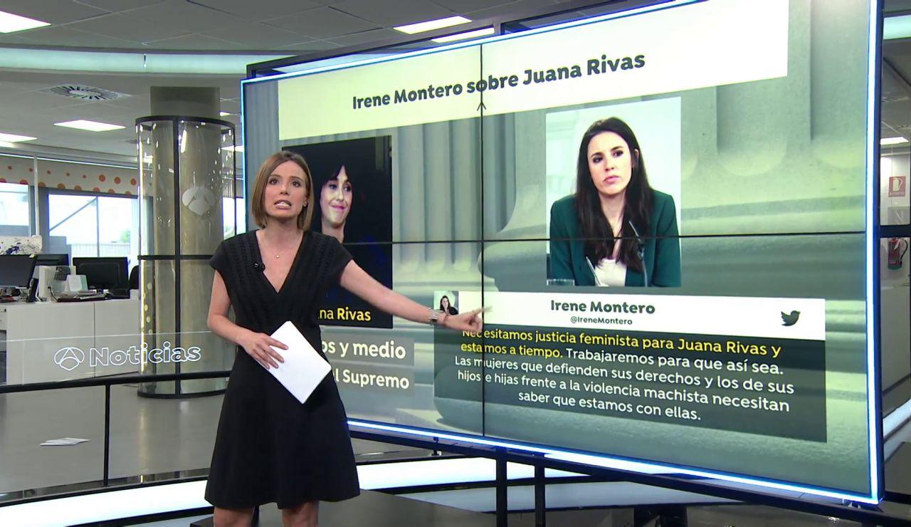 """Irene Montero pide """"justicia feminista"""" para Juana Rivas"""