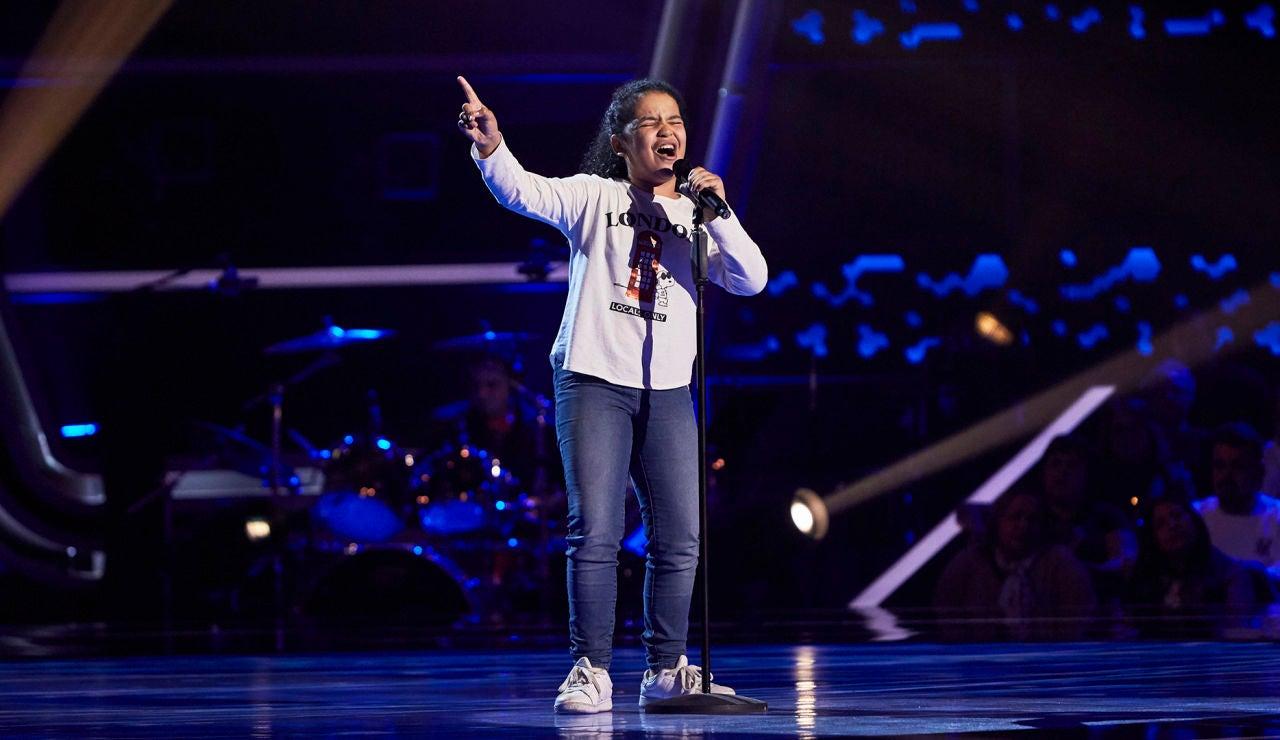 Nayara de Jesús canta 'Hit the Road Jack' en las Audiciones a ciegas de 'La Voz Kids'
