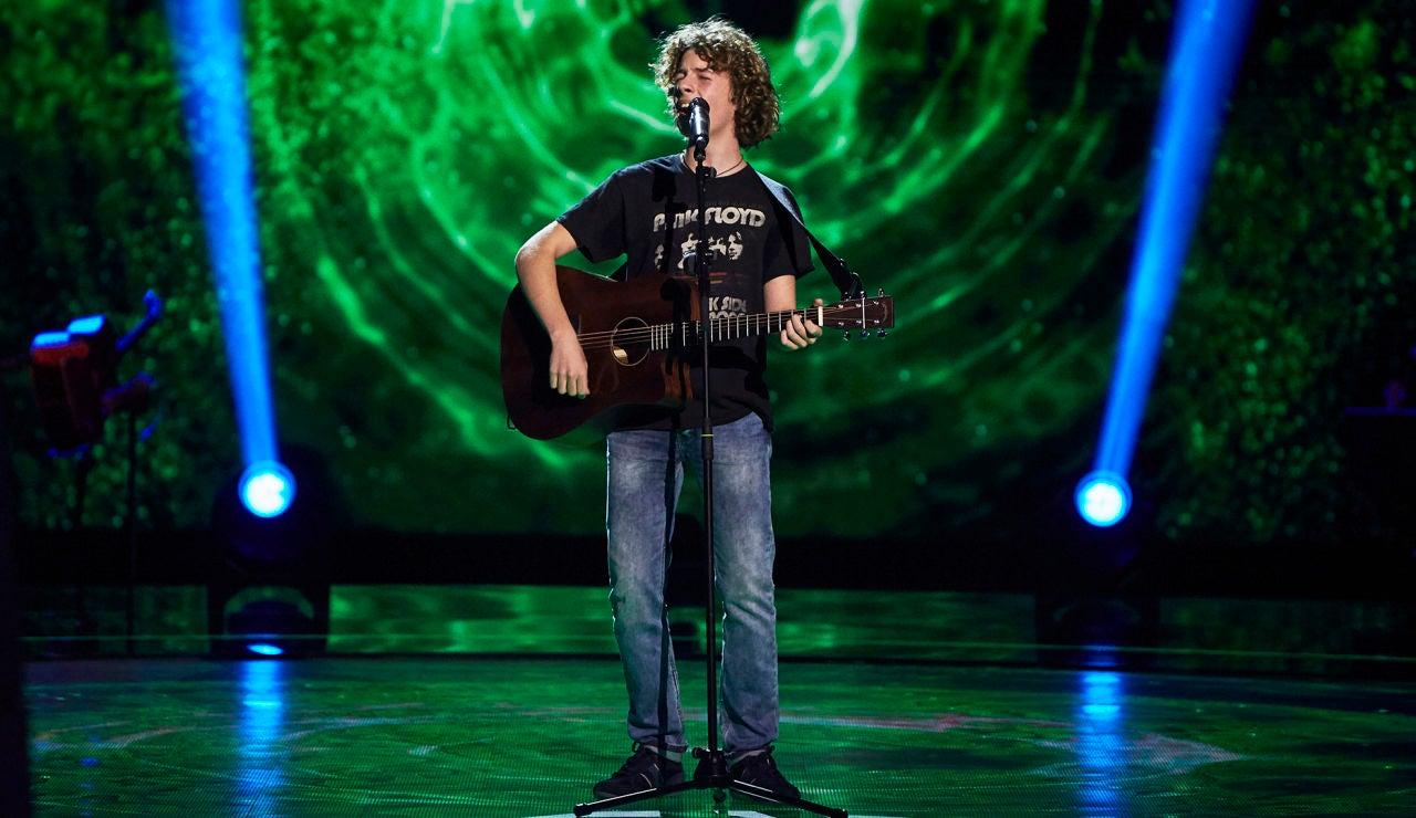 David Cabot canta 'Wish you where here' en las Audiciones a ciegas de 'La Voz Kids'