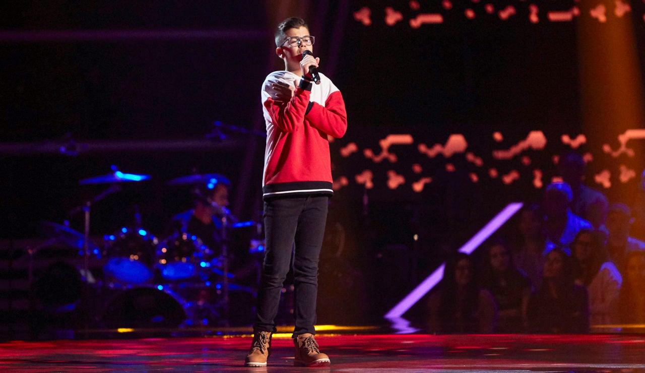 Samuel Martín canta 'Corazón hambriento' en las Audiciones a ciegas de 'La Voz Kids'
