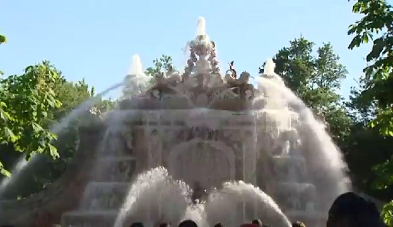 Las fuentes de los Jardines de la Granja de San Ildefonso (Segovia) vuelven hoy a funcionar