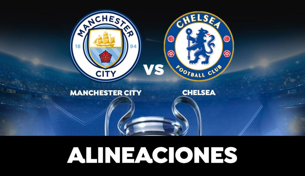 Manchester City - Chelsea: Alineaciones de la final de la Champions League en directo