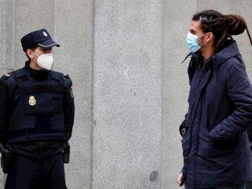 Alberto Rodríguez a su llegada al Tribunal Supremo para declarar como investigado en la causa