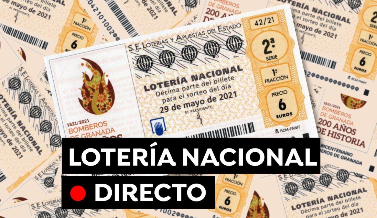 Sorteo Lotería Nacional hoy en directo: Comprobar resultado del sábado 29 de mayo